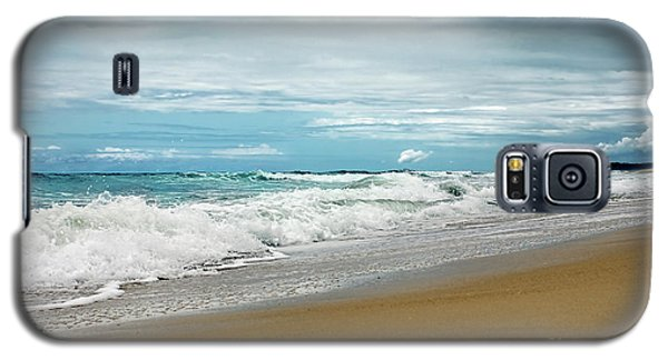 Galaxy S5 Case featuring the photograph Waves Clouds And Sand By Kaye Menner by Kaye Menner