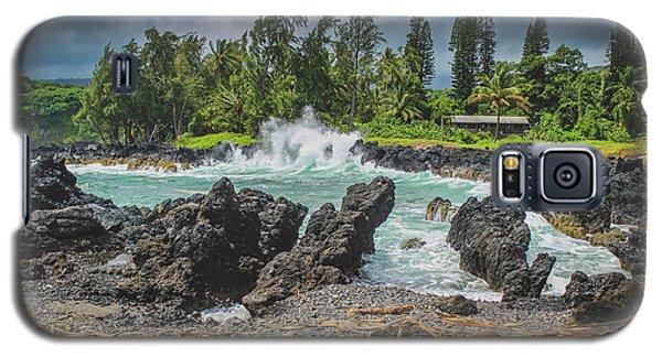 Waves Crashing Kawee Point Galaxy S5 Case