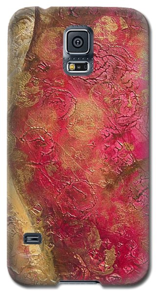 Waves Of Circles On Fuchsia Galaxy S5 Case