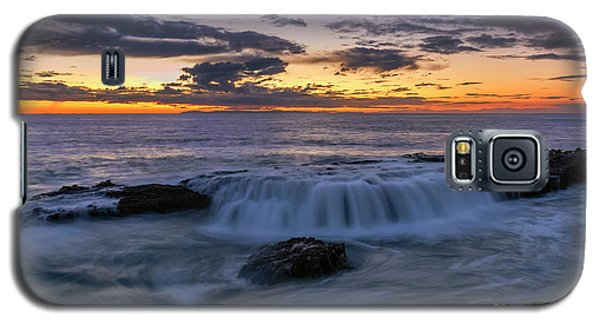 Galaxy S5 Case featuring the photograph Wave Over The Rocks by Eddie Yerkish
