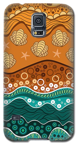 Waves Galaxy S5 Case by Veronica Kusjen