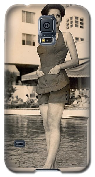 Way Back Then At The Fontainebleau In Miami Beach Galaxy S5 Case by Matthew Bamberg