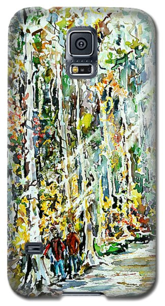 Galaxy S5 Case featuring the painting Wayfarers Home by Alfred Motzer