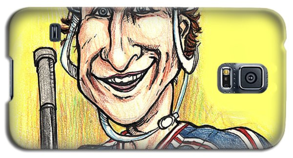 Galaxy S5 Case featuring the drawing Wayne Gretsky Caricature by John Ashton Golden