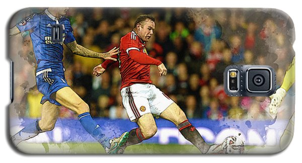 Wayne Rooney Of Manchester United Scores Galaxy S5 Case by Don Kuing