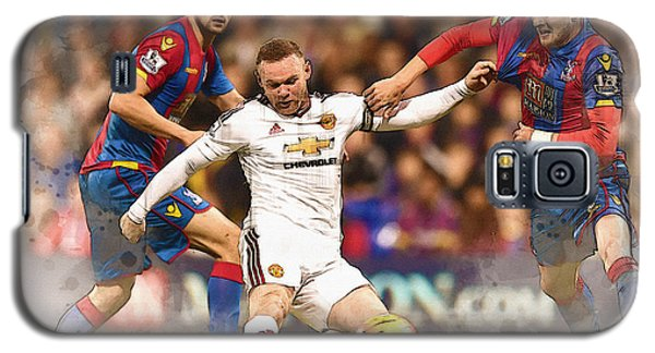 Wayne Rooney Shoots At Goal Galaxy S5 Case by Don Kuing