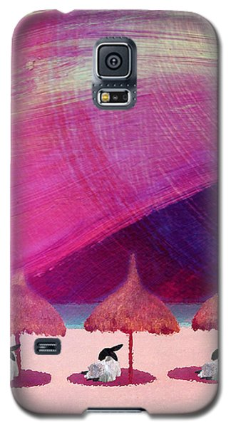 We Are But Sheep On The Beach Galaxy S5 Case