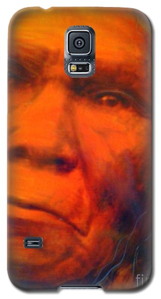 Galaxy S5 Case featuring the painting We Are First Nation by FeatherStone Studio Julie A Miller