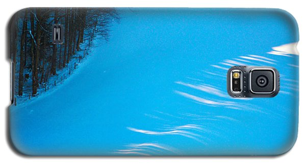 Galaxy S5 Case featuring the photograph We Got The Blues - Winter In Switzerland by Susanne Van Hulst