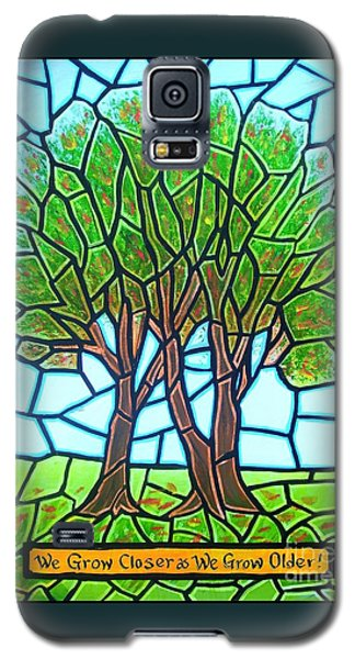 Galaxy S5 Case featuring the painting We Grow Closer As We Grow Older by Jim Harris