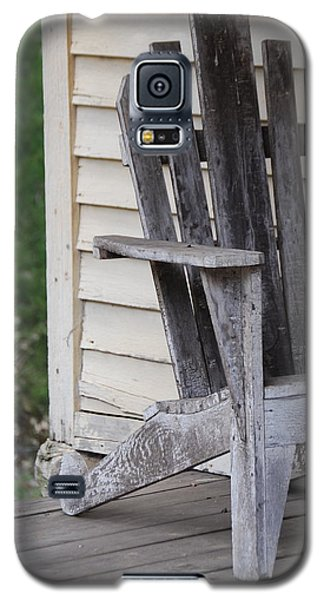 Galaxy S5 Case featuring the photograph Weathered Porch Chair by Debbie Karnes