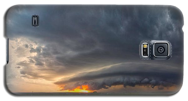 Weatherford Oklahoma Sunset Supercell Galaxy S5 Case by James Menzies