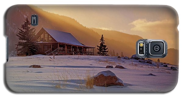 Weber Canyon Cabin Sunrise. Galaxy S5 Case by Johnny Adolphson