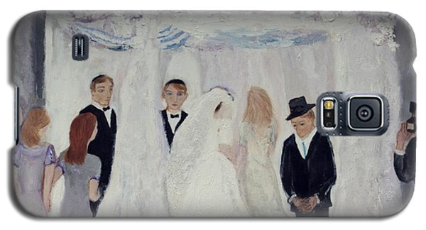 Galaxy S5 Case featuring the painting Wedding Day by Aleezah Selinger