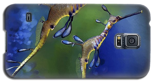 Galaxy S5 Case featuring the digital art Weedy Sea Dragon by Thanh Thuy Nguyen