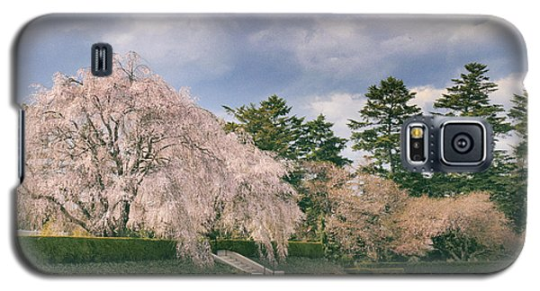 Galaxy S5 Case featuring the photograph Weeping Cherry In Bloom by Jessica Jenney