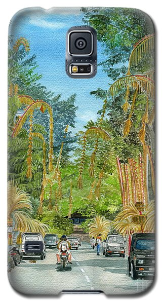 Galaxy S5 Case featuring the painting Weeping Janur Bali Indonesia by Melly Terpening