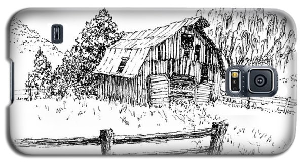 Weeping Willow And Barn One Galaxy S5 Case