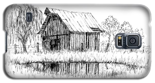 Weeping Willow And Barn Two Galaxy S5 Case