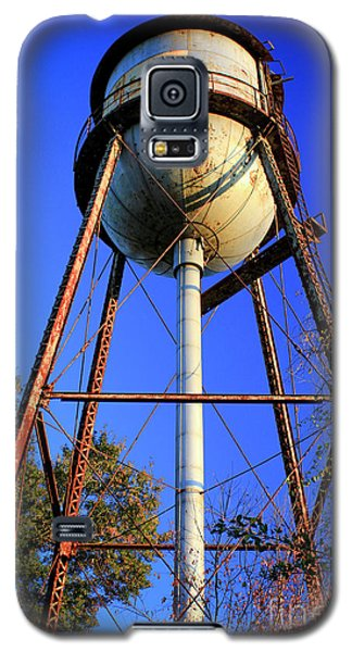 Galaxy S5 Case featuring the photograph Weighty Water Cotton Mill  Water Tower Art by Reid Callaway