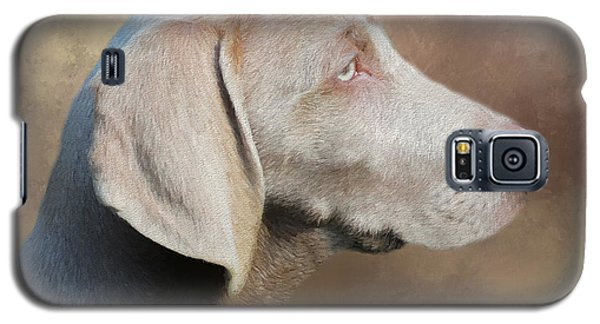 Galaxy S5 Case featuring the painting Weimaraner Adult - Painting by Ericamaxine Price