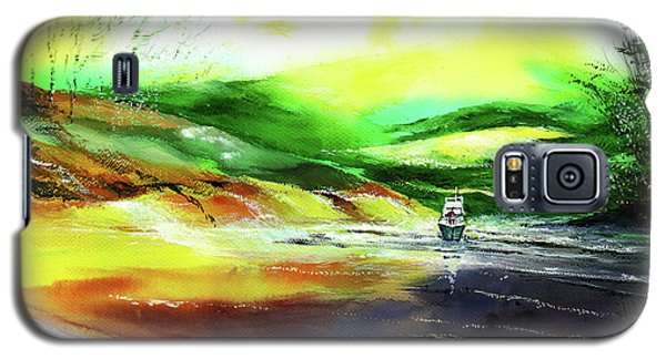 Galaxy S5 Case featuring the painting Welcome Back by Anil Nene