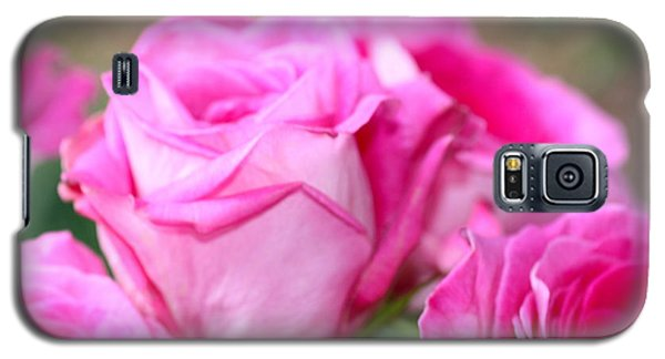 Galaxy S5 Case featuring the photograph Welcome In Pink by Cathy Dee Janes