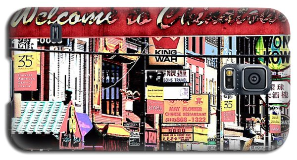 Welcome To Chinatown Sign Red Galaxy S5 Case by Marianne Dow