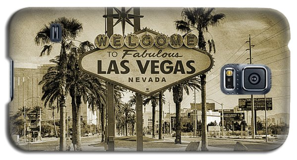 Welcome To Las Vegas Series Sepia Grunge Galaxy S5 Case
