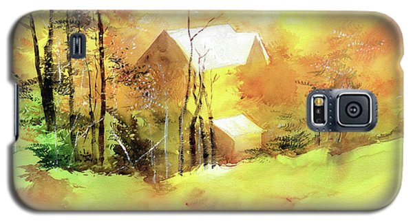 Galaxy S5 Case featuring the painting Welcome Winter by Anil Nene