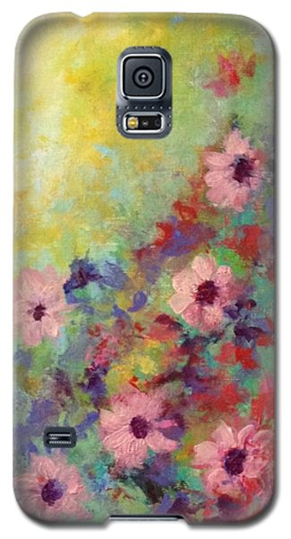 Galaxy S5 Case featuring the painting Welcoming Spring by Suzzanna Frank