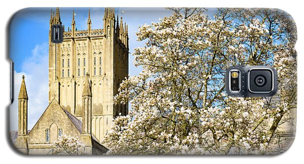 Wells Cathedral And Spring Blossom Galaxy S5 Case