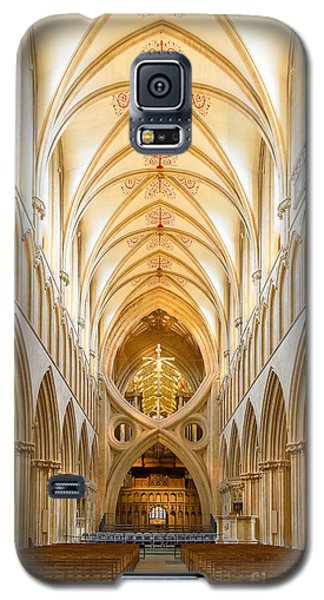 Wells Cathedral Nave Galaxy S5 Case