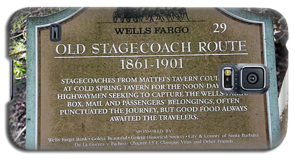 Wells Fargo Stage Coach Sign Galaxy S5 Case