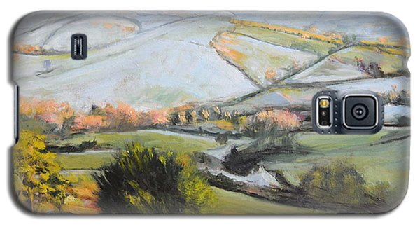 Galaxy S5 Case featuring the painting Welsh Landscape In Winter by Harry Robertson