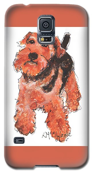 Welsh Terrier Or Schnauzer Watercolor Painting By Kmcelwaine Galaxy S5 Case