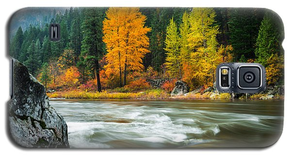 Galaxy S5 Case featuring the photograph Wenatchee Riverside by Dan Mihai