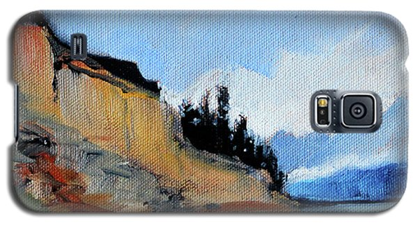 Galaxy S5 Case featuring the painting West Of Dungeness by Nancy Merkle