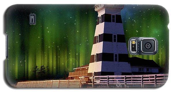 West Point Lighthouse Night Scene Galaxy S5 Case