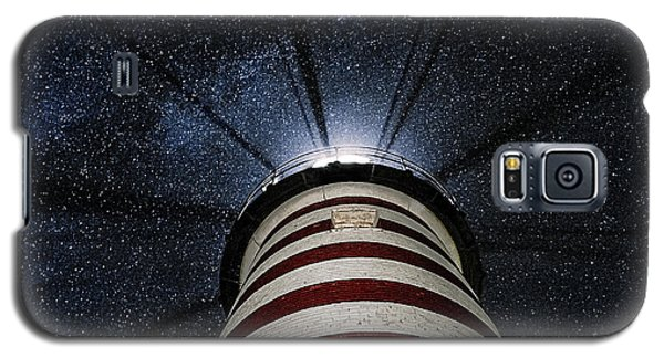 West Quoddy Head Lighthouse Night Light Galaxy S5 Case by Marty Saccone