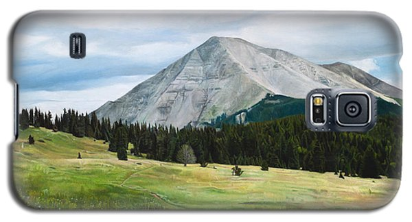 Galaxy S5 Case featuring the painting West Spanish Peak In Summer by Joshua Martin