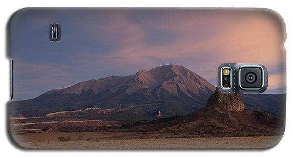 Galaxy S5 Case featuring the photograph West Spanish Peak Sunset by Aaron Spong