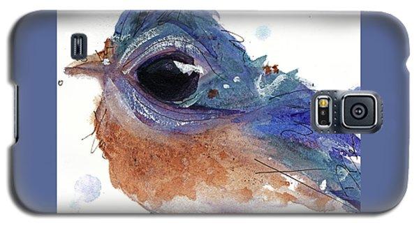 Galaxy S5 Case featuring the painting Western Bluebird by Dawn Derman