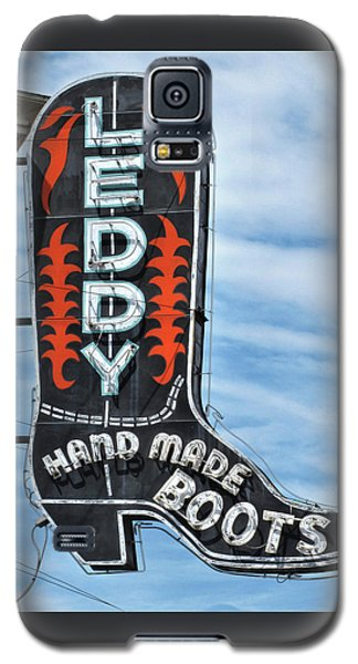 Galaxy S5 Case featuring the photograph Western Boot Sign by David and Carol Kelly