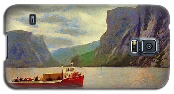 Galaxy S5 Case featuring the painting Western Brook Pond by Jeff Kolker