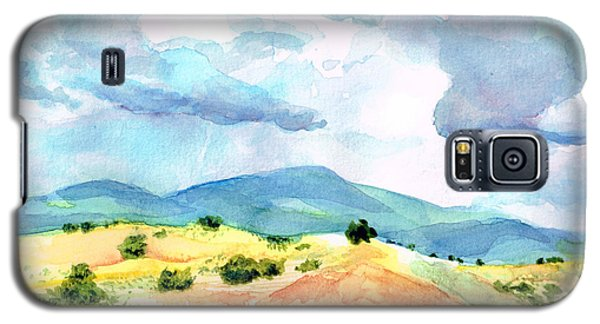 Galaxy S5 Case featuring the painting Western Landscape by Andrew Gillette