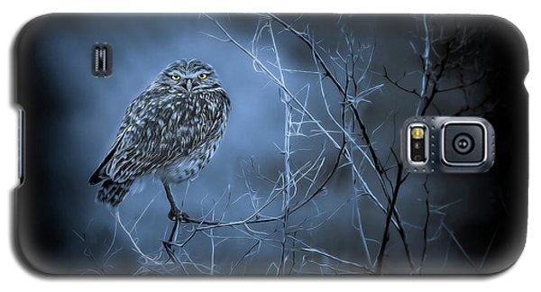 Galaxy S5 Case featuring the photograph Western Owl Gloom by Rikk Flohr