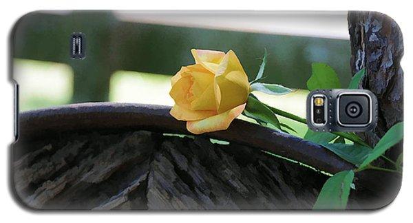 Western Yellow Rose Vii Galaxy S5 Case
