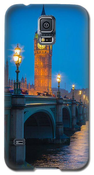 Westminster Bridge At Night Galaxy S5 Case by Inge Johnsson