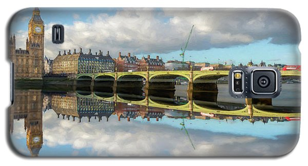 Galaxy S5 Case featuring the photograph Westminster Bridge London by Adrian Evans